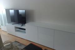 mueble tv con vitrina